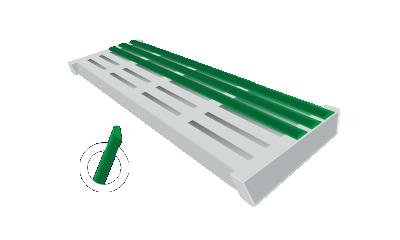 rundveeroosters voor groene vlag kappen
